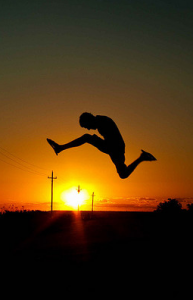 Leaping over the Sun by Araí Moleri Riva-Zucchelli