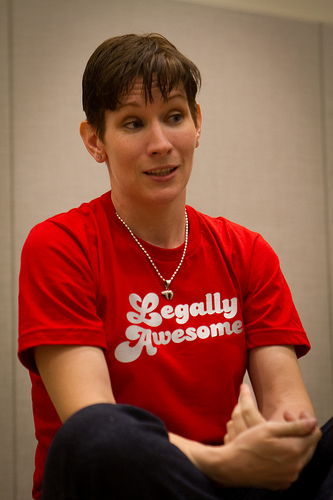 Speaking at Phoenix Comicon 2012, Ruth Carter photo by Devon Christopher Adams