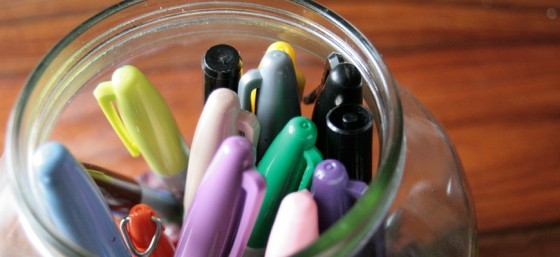 The best analogy for copyright is a jar of markers where each marker represents one of your rights - 10 things: Sharpies by Crystl from Flickr