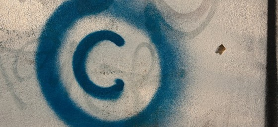 Large Copyright Graffiti Sign on Cream Colored Wall by Horia Varlan from Flickr (Creative Commons License)