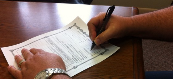 Signing Paperwork by Dan Moyle from Flickr (Creative Commons License)