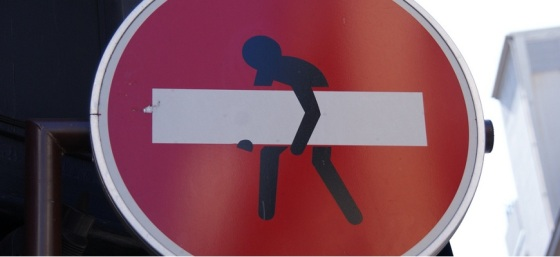 Attention - Man Stealing White Stripe by Julian Mason from Flickr (Creative Commons License)