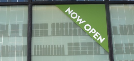 Little Waitrose - Birmingham Snow Hill - Colmore Row - Now open - sign by Elliott Brown from Flickr (Creative Commons License)