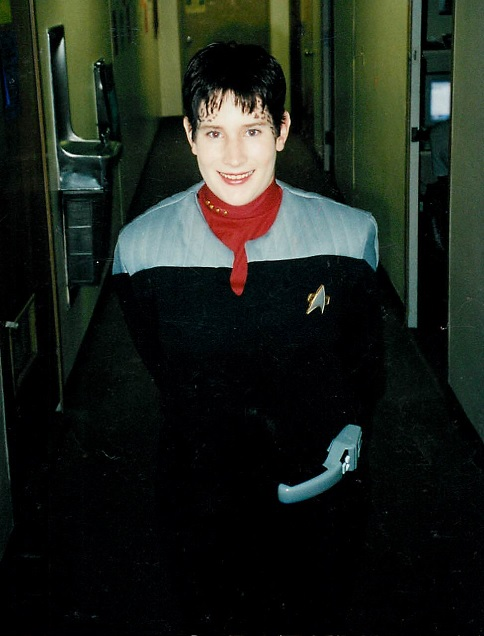 In my Starfleet uniform and Trill Make-up, 2000