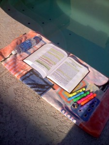 Poolside Studying, Ruth Carter