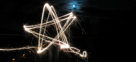 Fun with leftover sparklers #10 by yahtzeen from Flickr