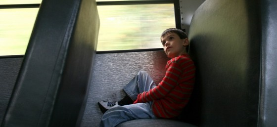 Alone on the School Bus by woodleywonderworks from Flickr