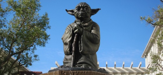 Yoda statue outside Lucasfilm - The Presidio by kennejima from Flickr