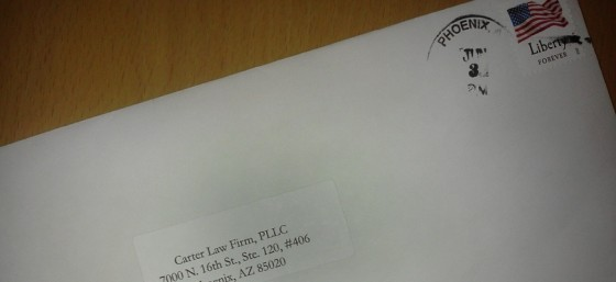 Self-Addressed Envelope after it's been through the Mail