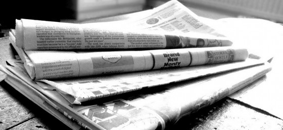 Newspapers B&W (4) by NS Newsflash from Flickr