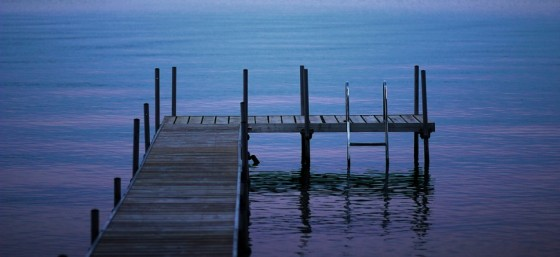 dock at dusk by Scott Ellis from Flickr
