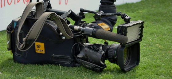 TV Camera on the grass by Simon Yeo (smjbk) from Flickr