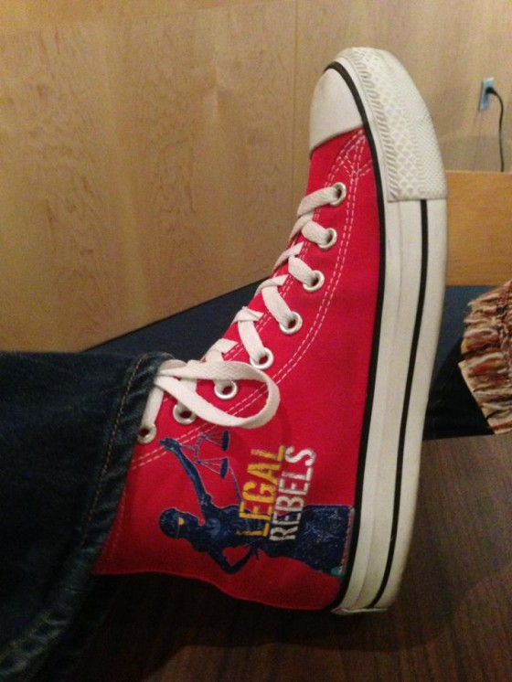 Close-up of my Magic Red Chucks - photo by Pam Slim (used with permission)