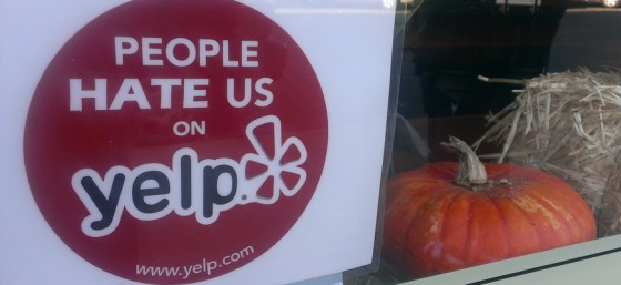 People Hate Us on Yelp by danoxster from Flickr (Creative Commons License)