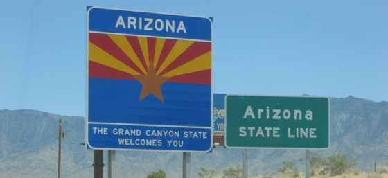 Arizona - The Grand Canyon State Welcomes You by HPZ from Flickr (Creative Commons License)