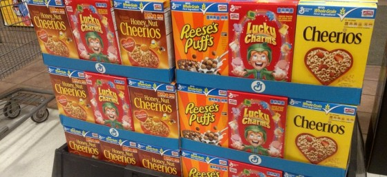 General Mills Kids Breakfast Cereals by Mike Mozart from Flickr (Creative Commons License)