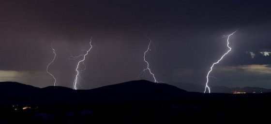 Hueco Tanks Lightening Storm by Dana Le from Flickr (Creative Commons License)