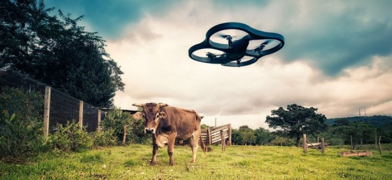 Drone vs Cow by Mauricio Lima from Flickr (Creative Commons License)