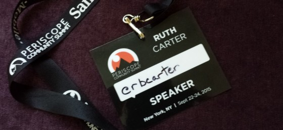 My Badge from Periscope Community Summit - September 2015