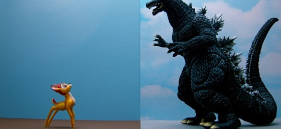 Bambi vs. Godzilla (211/365) by JD Hancock from Flickr (Creative Commons License)